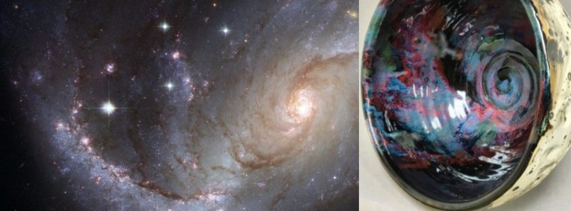 Galaxy Interior and Lunar Bowl, Cherrico Pottery